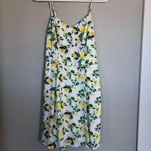 🍋Lemon Print Dress